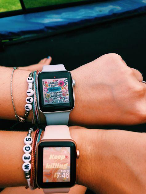 name bracelets + apple watch