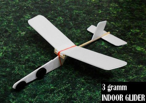Ultra Light 3 Gramm Indoor Glider For Beginners Toy