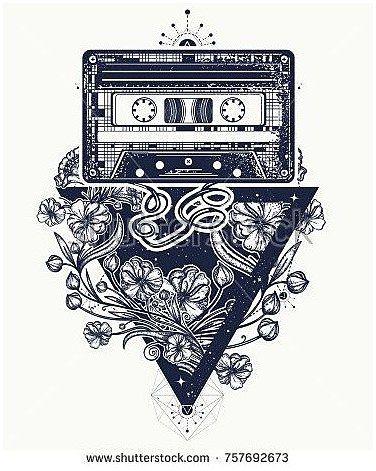 Image by Shutterstock Musical Note Line Art Men/'s Tee