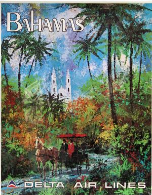 "Delta Air Lines B2G1F 11/"" x 17/"" Collector/'s Travel Poster Print Florida"