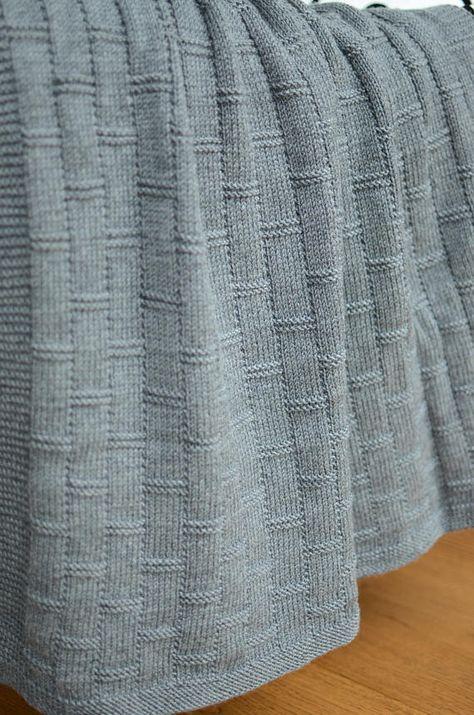 Grey Baby Blanket Hand Knitted Baby Blanket Merino Wool Baby