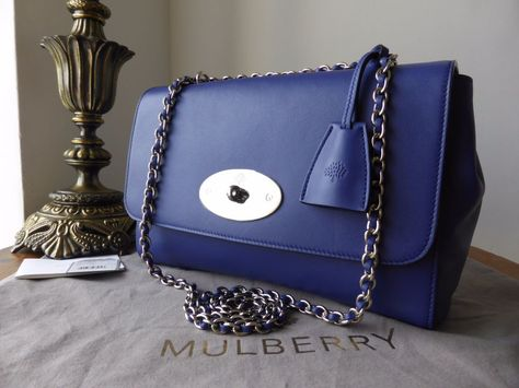 Mulberry Medium Lily in Indigo Lamb Nappa leather with shiny silver tone  hardware. RRP £895. Crafted from super smooth and finely grained 4600274dd34e6