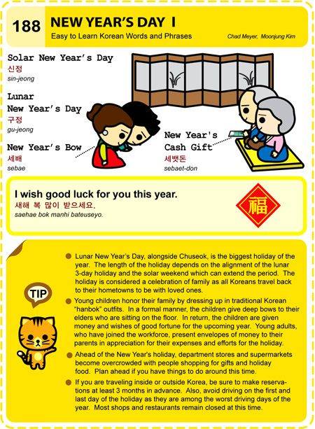 Easy to Learn Korean 188-189 – Lunar New Year    Learn Korean ( 101