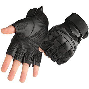Tactical Military Half Finger Gloves Men/'s Hunting Shooting Combat Fingerless