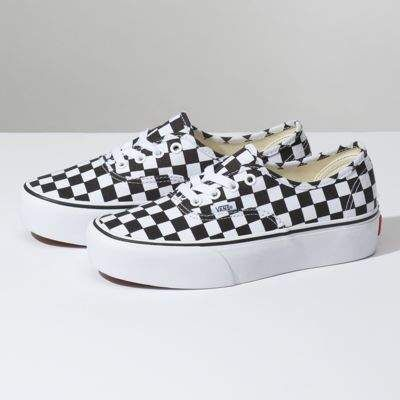 vans checkerboard platform