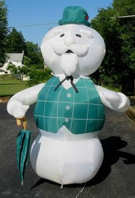 8 ft Gemmy Airblown inflatable Sam The Snowman from Misfit Island Rudolph