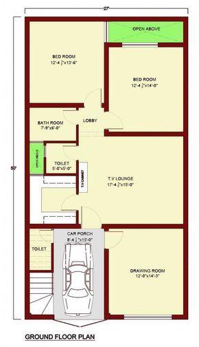 House Floor Plan By 360 Design Estate 5 Marla House Ground Floor Plan House Flooring House Floor Plans
