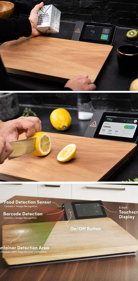 Ever wondered how many calories you eat? This smart cutting board tracks your food's nutritional val