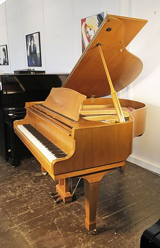 A Carlmann Baby Grand Piano With A Walnut Case And Spade Legs At Besbrode Pianos A Great Value Baby Grand At 3500 Baby Grand Pianos Piano For Sale Piano