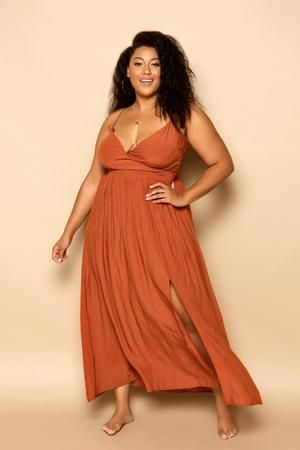 Feel fierce and fantastic in this flowy plus size maxi dress ...