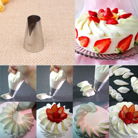 580 Icing Piping Nozzles Decorating Mouth Seamless Pastry Tube Sugarcraft Cake  Decorating Tools KH061-in Baking   Pastry Tools from Home   Garden on ... fd8283123b16