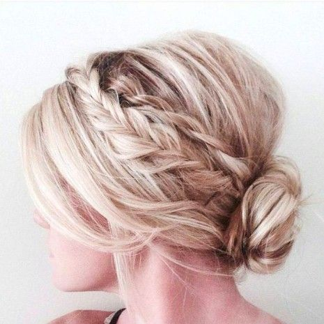 35 Trendy Prom Updos Double Braid With A Low Bun Hairstyle On