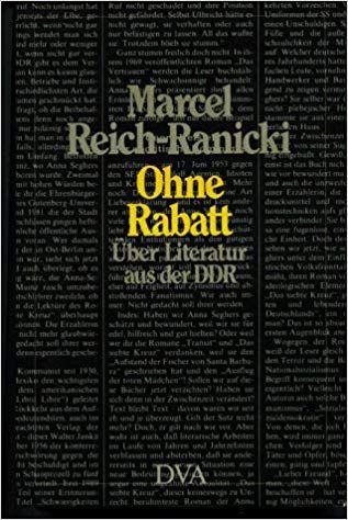 Ohne Rabatt Uber Literatur Aus Der Ddr Marcel Reich Ranicki Filosofia Biblioteca Letras