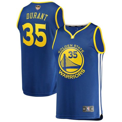9633ad518db  84.99 Men s Golden State Warriors Kevin Durant Fanatics Branded Royal 2018  NBA Finals Bound Fast Break Replica Player Jersey – Icon Edition.