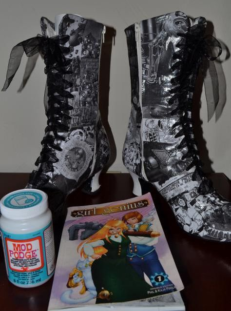 Girl Genius comic book boots