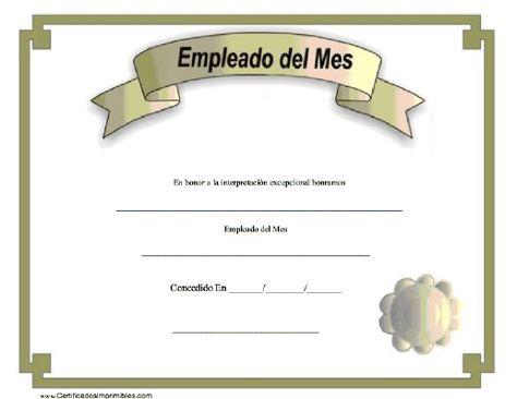 Empleado del Mes para imprimir los certificados, gratis para