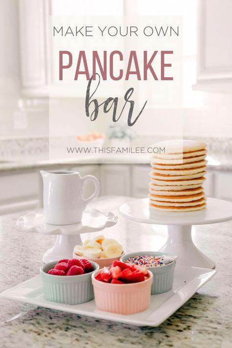 Pancake Bar for National Pancake Day - This FamiLee