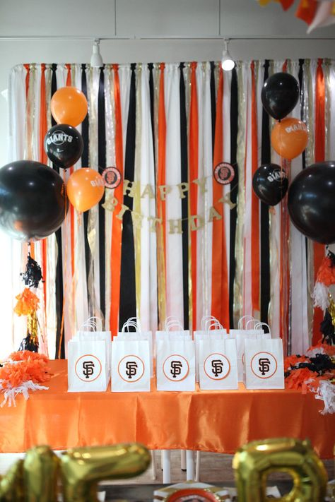 San Francisco Giants Baseball Birthday Party