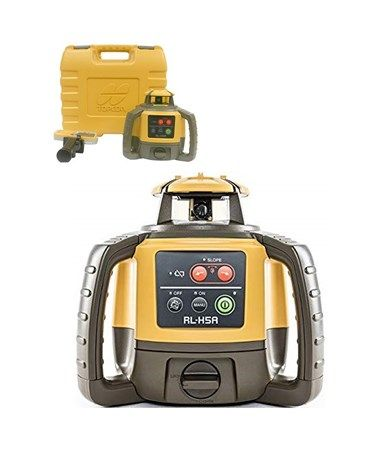 The Topcon Rl H5a Horizontal Self Leveling Rotary Laser Is A Multi Purpose Laser That Is Ideal For Grading Excavating Site Prepara Rotary Leveling Horizontal