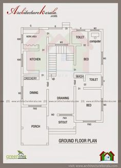 Architecture Kerala Contemporary Elevation And House Plan Low Cost House Plans Kerala House Design Contemporary House Plans