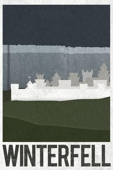 Winterfell Retro Travel Posters | Art Inspiration ~ Eye Love