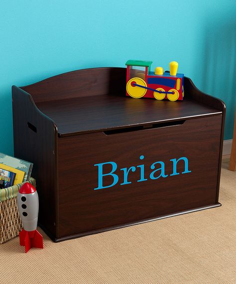 Look at this Espresso Austin Personalized Toy Box Font on #zulily today!