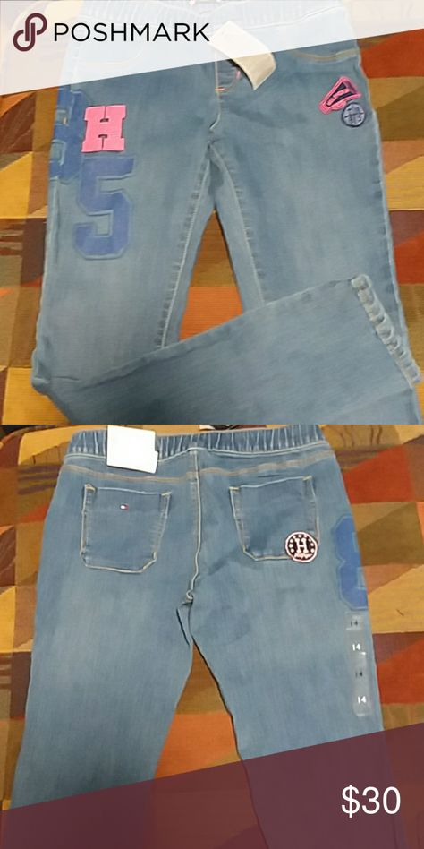 7e4eb9d1997 Tommy Hilfiger Big Girl Varsity Jean Tommy Hilfiger Big Girl Varsity Jean.  NWT. Size 14. Stretch. Pull On. Tommy Hilfiger Bottoms Jeans