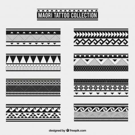 Maori tribal tattoo collection Free Vector - New Site