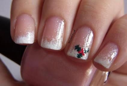 Nails Christmas Art Designs French Manicures 38 Ideas #nails #xmasnails