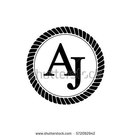 Initials Letters Aj Logo Black Rope Aj Logo Logos Initials Logo