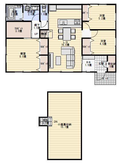 26坪 ロフト付き平屋 間取り 32坪 間取り 屋根裏収納