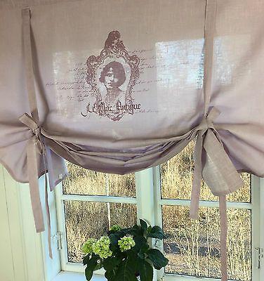 Details Zu Raff Gardine Antique Altrosa 120x120 Vorhang Lillabelle Shabby Landhaus Curtain In 2020 Gardinen Gerafft Rollos