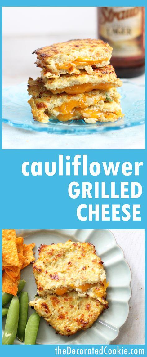 Grilled Cheese With Cauliflower Bread Recipe Cauliflower Bread