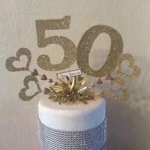 Golden Wedding Anniversary 50th Anniversary Cake Topper Ebay 50th Anniversary Cakes Golden Wedding Anniversary 50th Wedding Anniversary