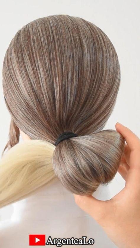 Easy Bun Hairstyle 💛
