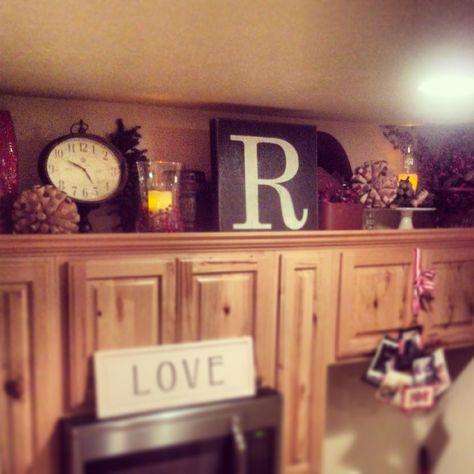 Above Cabinet Kitchen Decor | Crafty Mally ❤