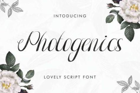 Photogenics (Font) by EdricStudio · Creative Fabrica