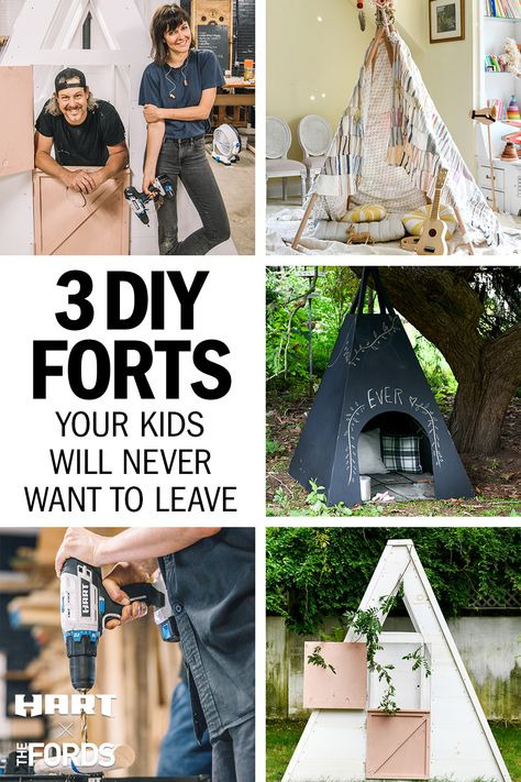 Projects For Kids, Diy For Kids, Crafts For Kids, Diy Projects, Diy Fort, Do It Yourself Furniture, Activities For Kids, Friend Activities, Nature Activities