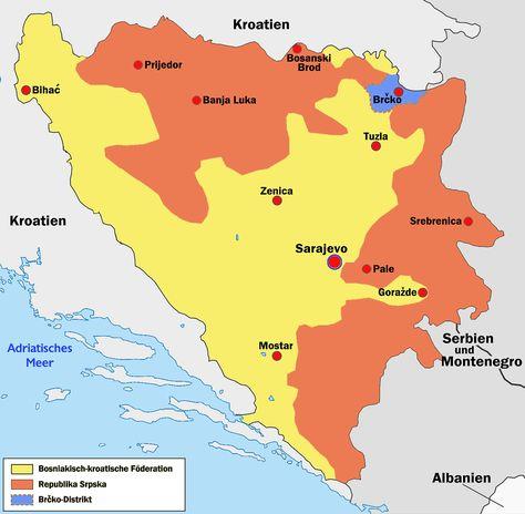 Bosnien Und Herzegowina Landkarte Bosnien Und Herzegowina