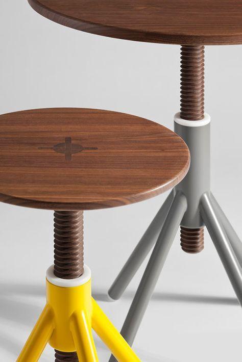 Adjustable Stool By Coordination Berlin Design De Mobiliario
