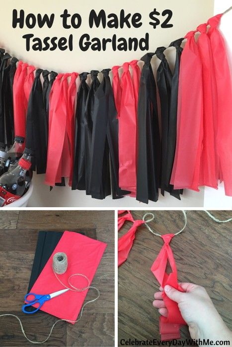 How to Make 2 Tassel Garland 23 Graduation Open Houses, 8th Grade Graduation, Kindergarten Graduation, Graduation Decorations, Graduation Party Decor, Grad Parties, Graduation Ideas, Graduation Centerpiece, Cheap Party Decorations