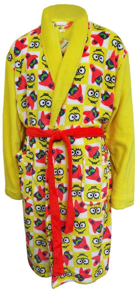 SpongeBob Squarepants Adult Plush Robe - Large/X-Large / Bright Yellow