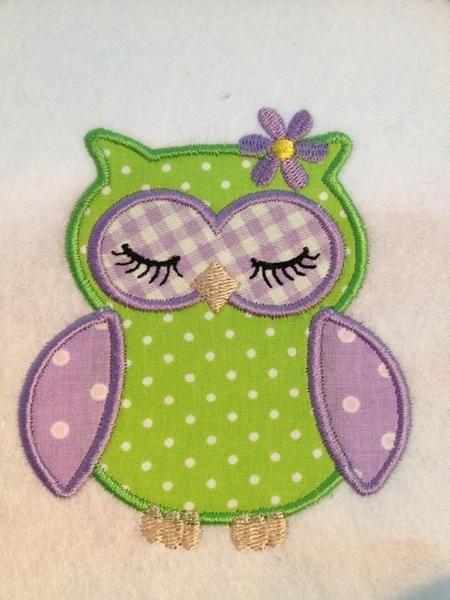 Süße Applikation Eule  zum aufnähen auf T- Shirts - Taschen- Kindergartentasche-  Jacken-Bettwäsche und vieles mehr.  Der Fantasie sind keine Gr...