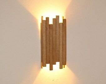 Wall Lamp Industrial Handmade Home Decor Lighting Lorum Lights Solid Minimalistic Wood Handcrafted Wood Wall Lamps Wall Lamp Wall Lights