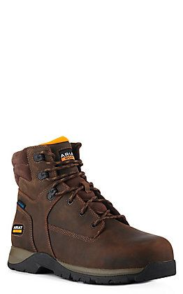 Lace Up Composite Toe Work Boots