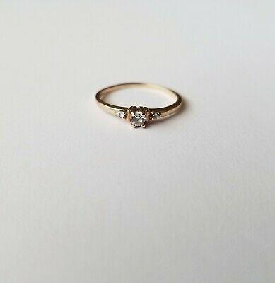 Ebay Advertisement 10k Yellow Gold Cubic Zirconia Cz Ring Cz Ring Fashion Rings Gold
