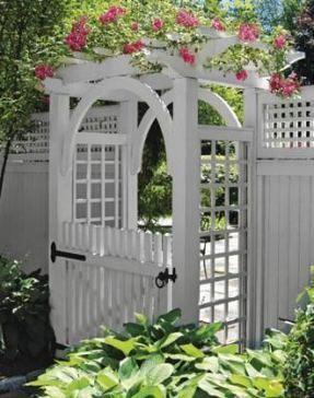 Trendy Backyard Fence White Garden Gates 42 Ideas Garden Archway Garden Gates Backyard Fences