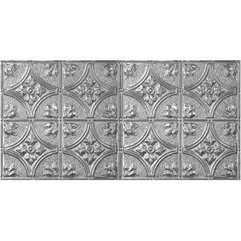 Victorian 2 Ft X 4 Ft Tin Plated Steel Tile Steel Tiles Metal Tile Faux Tin Ceiling Tiles