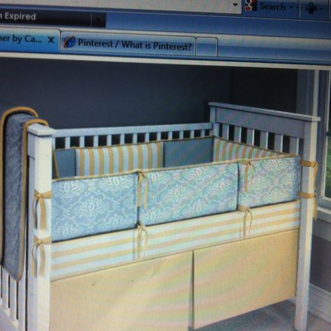 Yellow gray crib bedding