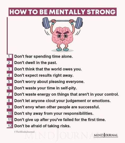 Here are some effective ways to be mentally strong. #mentalhealth #mentallystrong